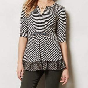 Anthropologie | One September Galicia Striped Top